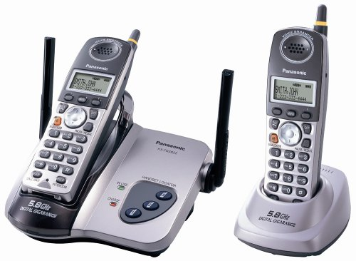 5.8 GHz FHSS GigaRange  Digital Cordless Telephone with Dual Handsets (Fhss Handset)