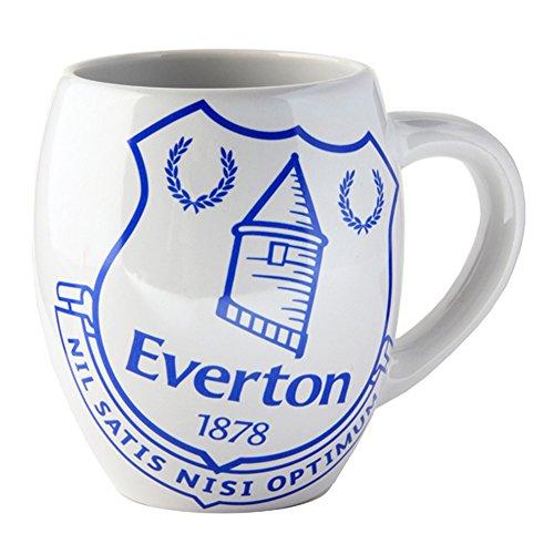 Everton FC Official Ceramic Football/Soccer Crest Tea Mug (One Size) (White/Blue)