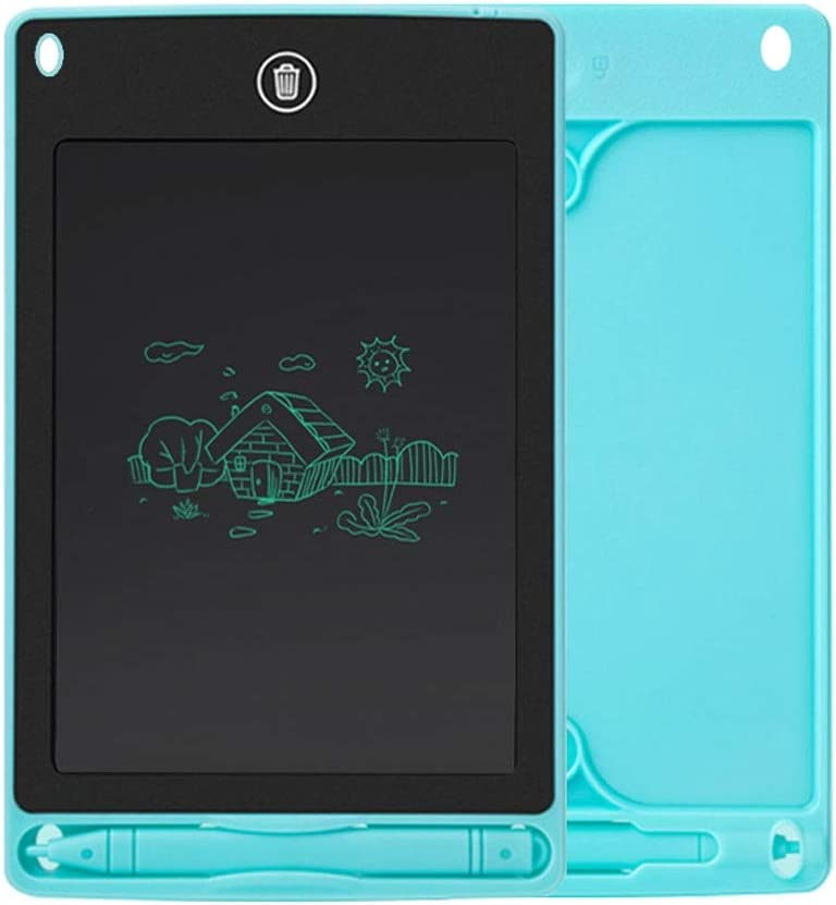 Kinder LCD Writing Board gebührenpflichtiges Zeichenbrett Baby-Gekritzel Doodle Bord Elektronischer LCD Doodle Writing Pad Unmagnetischer Zeichenbrett (Color : Black) Light Blue