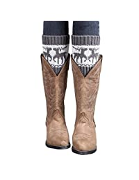 Leg Warmer TOOPOOT® Best Sell Women Knitted Christmas Wapiti Leg Warmers Boot Cover