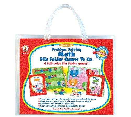 - Problem Solving Math File Folder Games to Go, Grade K