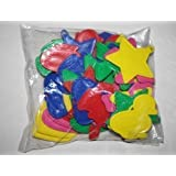 50 PLASTIC WEIGHTS for helium foil balloons BOLD blue yellow green pink