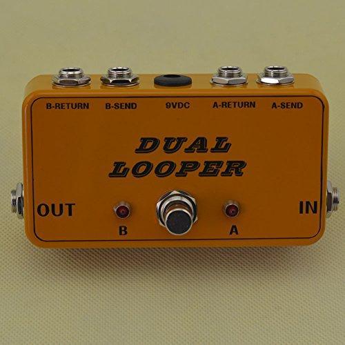 New True-Bypass Looper Effect Pedal Guitar Effect Pedal Looper Switcher true bypass guitar pedal Light Black dual Loop Orange switch by TTONE