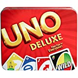 Mattel UNO Deluxe Card Game Tin