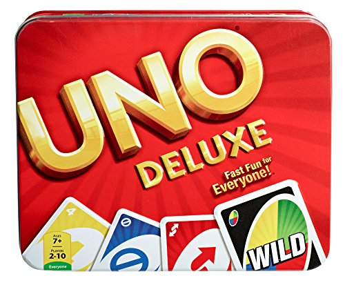 Mattel UNO Deluxe Card Game Tin from Mattel