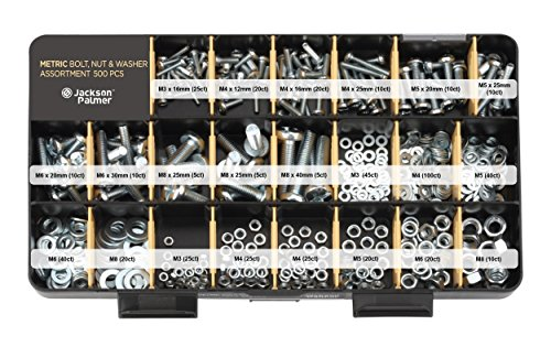 Deluxe Hardware Assortment Kit with ProfessionalNo Mix Case (1,300 Piece, 60 Sizes, Nuts, Bolts, Washers & Screws)