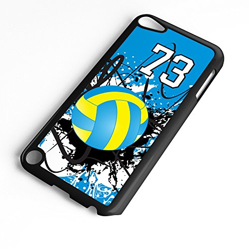 (iPod Touch Case Fits 6th Generation or 5th Generation Volleyball #9200 Choose Any Player Jersey Number 73 in Black Plastic Customizable by TYD Designs)