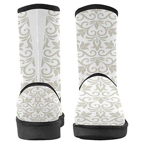 Bottes De Neige Womensprintprint Bottes Uniques Dhiver De Conception Conçu Damassé Élégante Lumière Multi 1
