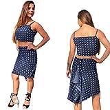 tango skirt, navy blue, polka dots, cascade back