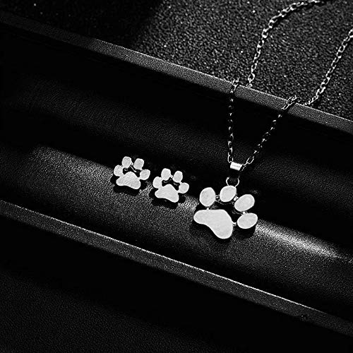 (Kaputar Fashion Jewelry Set Charm Cute Pets Dogs Footprints Women Earrings Necklace Hot | Model NCKLCS - 19500 |)