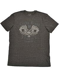 Mens Grey Graphic T Shirt