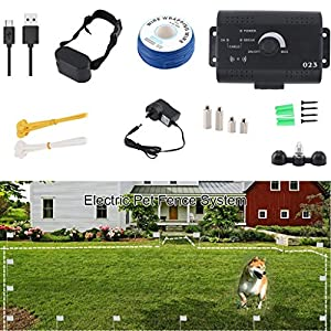 Invisible Wire Enclosure System, Safe and Effective beep and Electric Shock Dog Fence, Waterproof and Rechargeable… Click on image for further info.