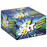Jolt Caffeine Energy Gum, Icy Mint, 12-Count Boxes (Pack of 2)
