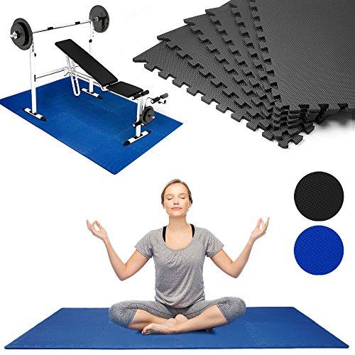 Puzzlematte 8er Set Bodenmatte 180 x 90cm Sportmatte Blau - Farbauswahl