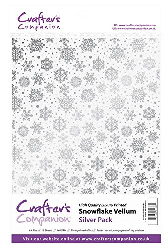 (Crafter's Companion Scrapbooking Craft Snowflake Vellum - Silver (160gsm))
