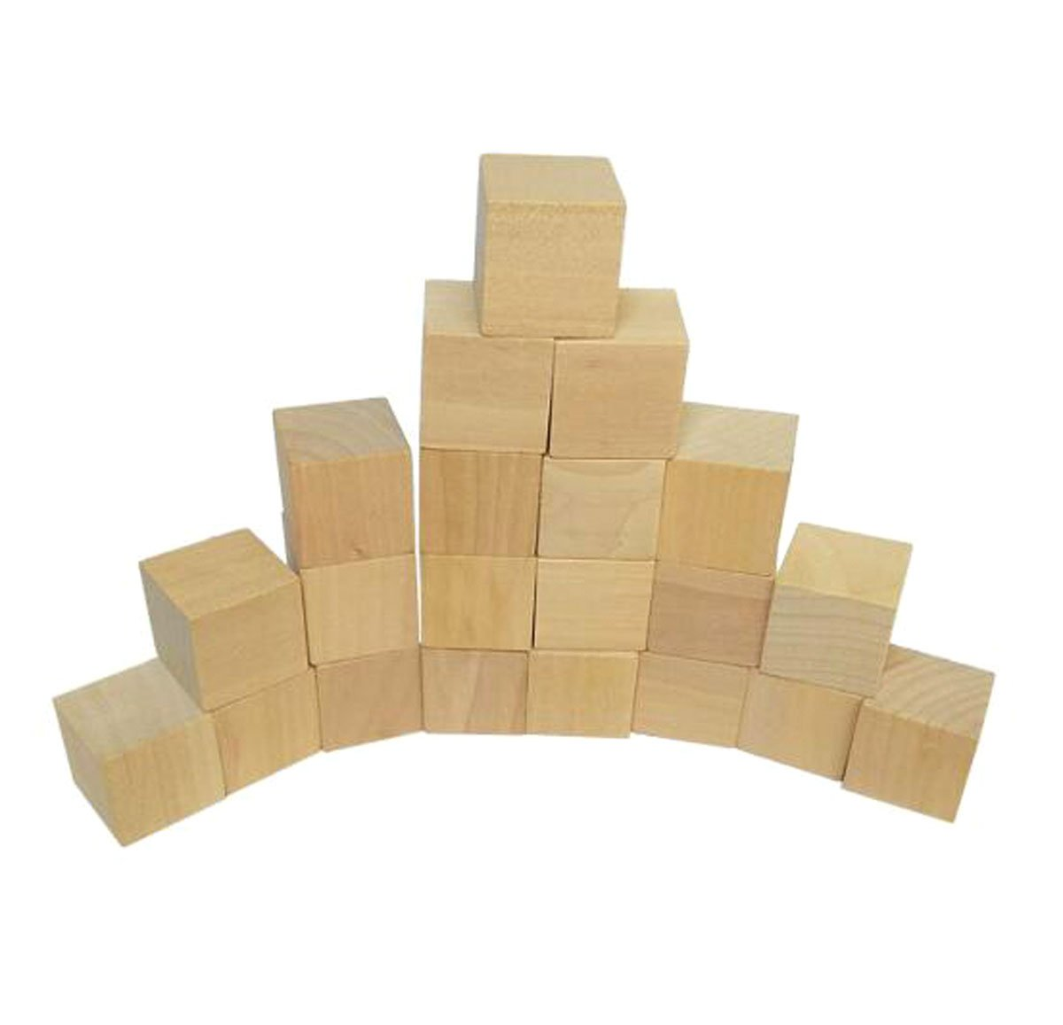 50 Pieces Blank Wooden Cubes - Wood Square Blocks - Unfinished Craft Wood Blocks for DIY Crafts Carving Art Supplies (10 x 10 x 10mm) Nicedmm