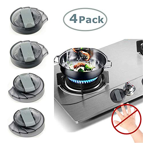 Upgraded Conch Style Kitchen Stove Knob Covers for Baby Safety Oven Gas Stove Knob Protection Locks for Childproofing - 4 Pack