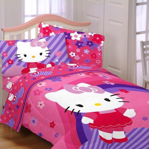 Super Amazon.com: Hello Kitty Raining Flowers 4pc Twin Bedding UN-41