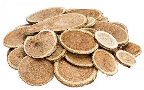 Nadeco Holzscheiben Rund 250g 2 5cm Baumscheiben Holz Scheiben