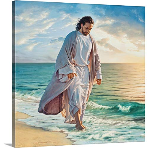 Jesus Christ Religious Art Painting - Be Still My Soul Canvas Wall Art Print, 30