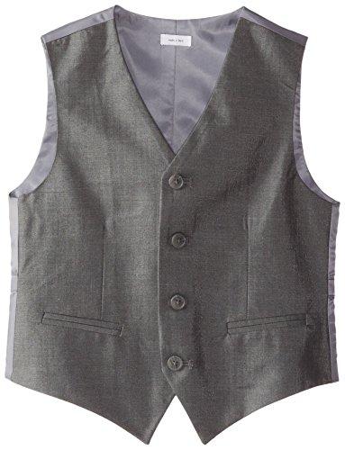 Calvin Klein Big Boys' Slub Twill Vest, Dark Grey, (Boys Gray Vest)