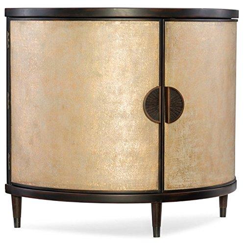 Hooker Furniture Melange Em Demilune Accent Chest in Gold