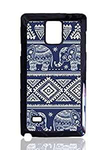 Blue Elephants Aztec Custom Hard Plastic back Phones Case for Samsung Galaxy Note4 - Galaxy Note 4 Case Cover