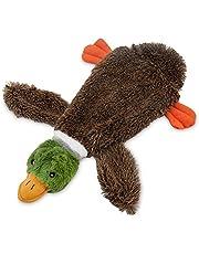 Best Pet Supplies 2-in-1 Fun Skin Stuffless Dog Squeak Toy, Small, Wild Duck