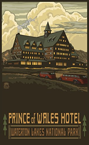 Northwest Art Mall Waterton Lakes National Park Prince of Wales Hotel Print by Artist Paul A. Lanquist, 11