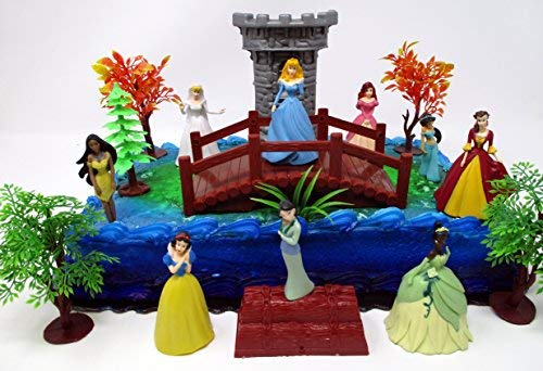 PRINCESS Deluxe Birthday Cake Topper Set Featuring Princesses and Decorative Themed -