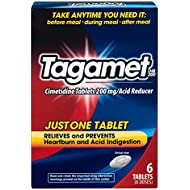 Tagamet Acid Reducer   Relieves and Prevents Heartburn and Acid Indigestion   6 Tablets   200 mg Cimetidine per Tablet
