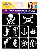 Glimmer Body Art Pirates And Mermaid Glitter Tattoo Stencil Set