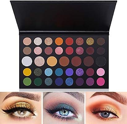 Paleta de sombras de ojos de 39 colores Sombra de ojos de mezcla mate y brillante Maquillaje Producto Paleta Set de maquillaje de sombra de ojos pigmentada: Amazon.es: Belleza