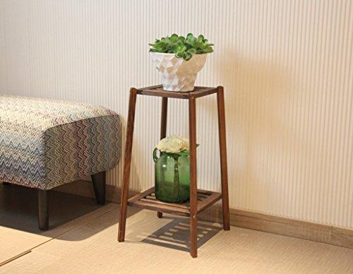 L;IAN Solid Wood Flower Rack,Indoor Living Room Chlorophytum Epipremnum Aureum Flower Pot Holder Floor-standing Style Multi-layer Flowerpot Plant Shelf (Color : B, Size : Small) by L;IAN