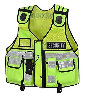 High Visibility Tactical Vest Security, Enforcement, CCTV, Dog Handler, Green/Black/Orange