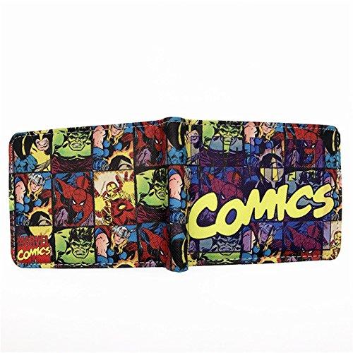 SWVV Comics Wallet Purse Iron Man Venom Thor Cartoon Wallet ...