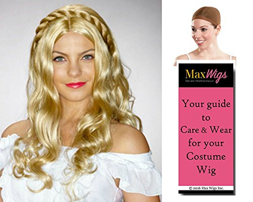 Michelle Renassiance Margaery Color Mixed Blonde - Enigma Wigs Women's Damsal Middle Ages Game Thrones Fair Madien Bundle with Wig Cap, MaxWigs Costume Wig Care (Game Of Thrones Margaery Tyrell Costume)