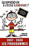 Qu'apprend-on à l'école élémentaire ? par France
