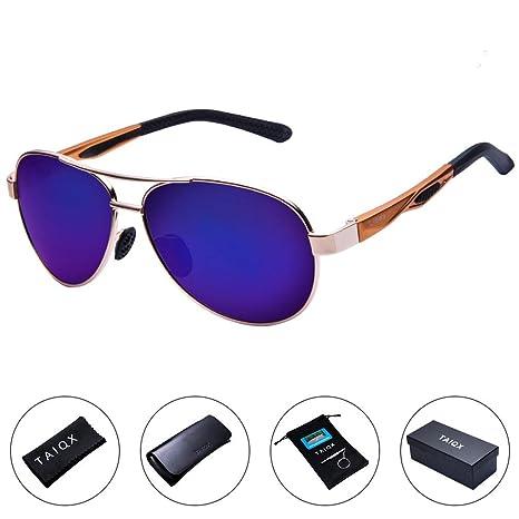 05fd7a51b7 Polarized Sunglasses - TAC Vintage Mirrored Aviator Polarized Eyeglass for  Unisex Outdoor Activities - UV400 Lightweight