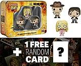 Daryl, Sheriff & Teddy Bear Walker Tin Boxset: Pocket POP! x Walking Dead Vinyl Figure + 1 FREE Official Walking Dead Trading Card Bundle [47993]