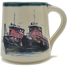 Great Bay Pottery Tug Boats Coffee Mug