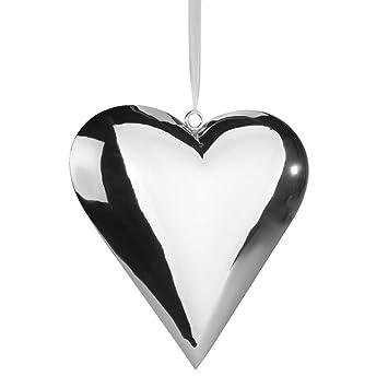 Deko Herzen Zum Aufhängen.Deko Herz Zum Hängen 25 Cm Silber