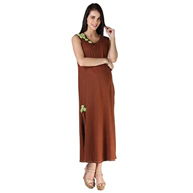 524d244b9fbb5 Morph Maternity - Sleeveless Maxi Dress/Maternity Wear/Pregnancy Wear/Maternity  Dress Brown