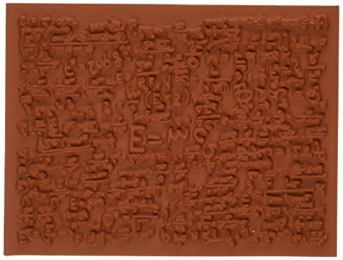 Deep Red Stamps Quantum Background Rubber Stamp