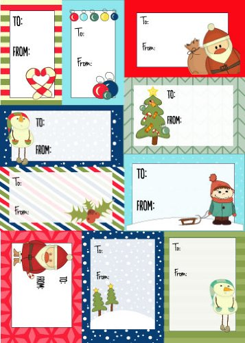 amazon com 200 sticker pack to from christmas labels cartoon
