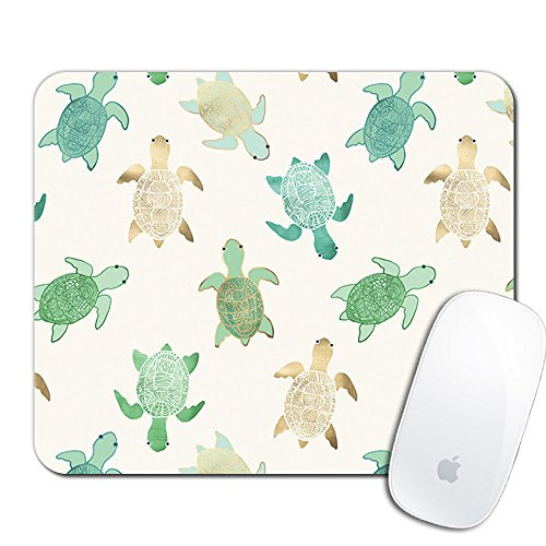 Royal Up Turtle Custom Mouse Pad Gaming Mat Keyboard Pad Waterproof Material Non-slip Personalized Rectangle Mouse pad (9.4x7.8x0.08Inch) Custom Printed Mouse Pad