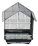 YML A1114MBLK House Top Style Small Parakeet Cage, 11Lx9Wx16H-Inch