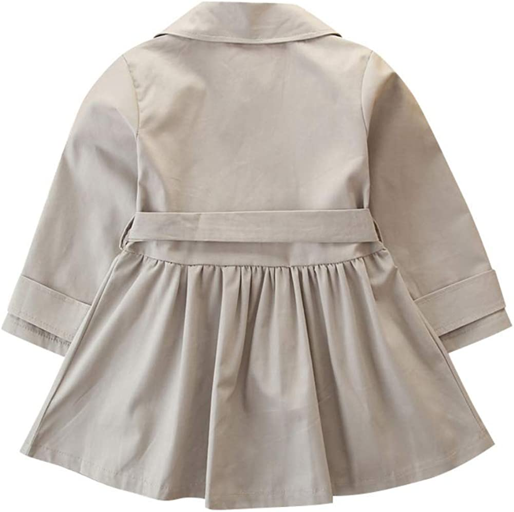 Miyanuby Newborn Baby Girls Coat Peter Pan Collar Vintage Dresses Coat Jacket Clothes with Belt