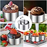 20 Pieces Round Stainless Steel Cake Ring Cake