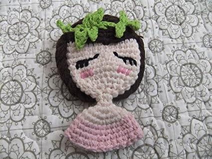 Susu Sister Custom Handmade DIY Wool Crochet Little Girl Brooch Birthday Gift Ideas D Holiday